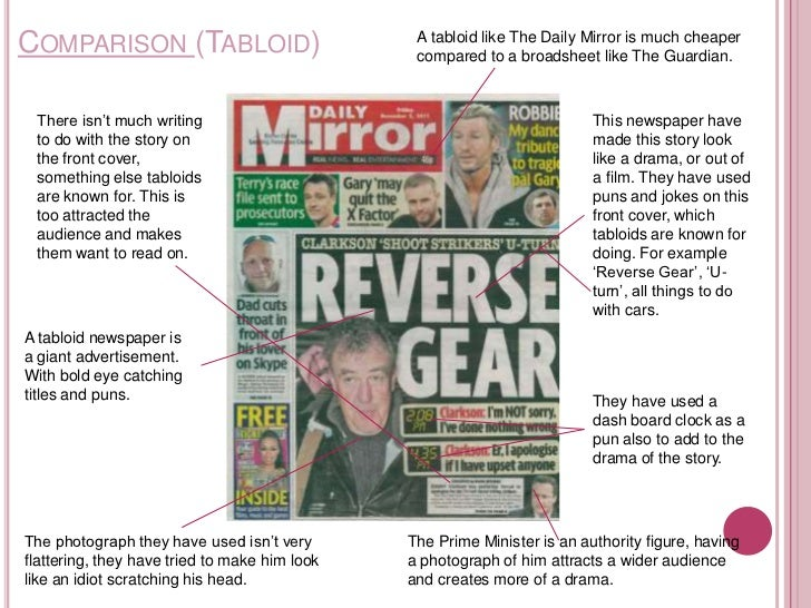 comparison for substantial together with tabloid advertising essay