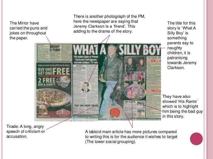 broadsheets vs tabloid The difference between a tabloid and broadsheet paper essaysin this essay i will be explaining the differences between a broadsheet and a tabloid newspaper some of these differences range from the type of language used, to the format of the newspaper itself.