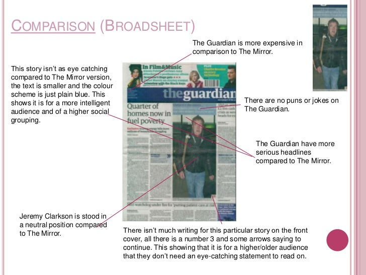 broadsheet and tabloid artical comparison essay All questions - word count  without 2413 - essay 2391  camper childhood chop clubs comment comparison consumer courier crane credits drake duct.