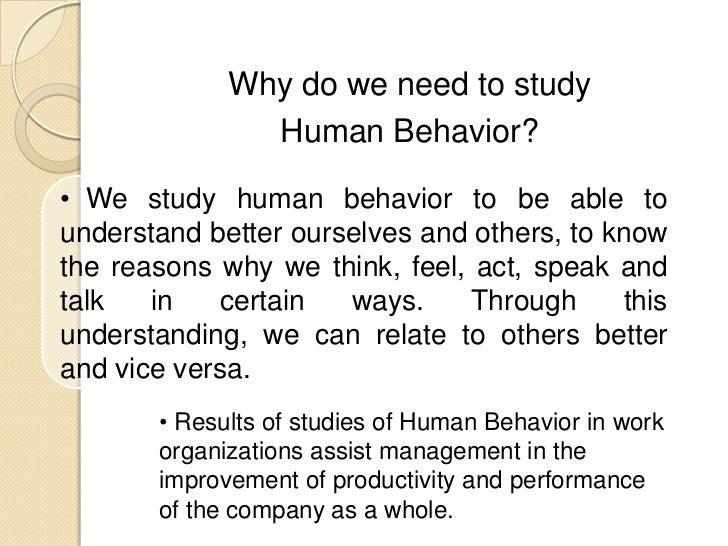 study of human behaviour psychology pdf