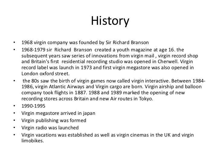 presentation of virgin group Virgin group (presentation) - duration: 6:13 anya nayyar 330 views 6:13 sir richard branson on entrepreneurship | london business school - duration.