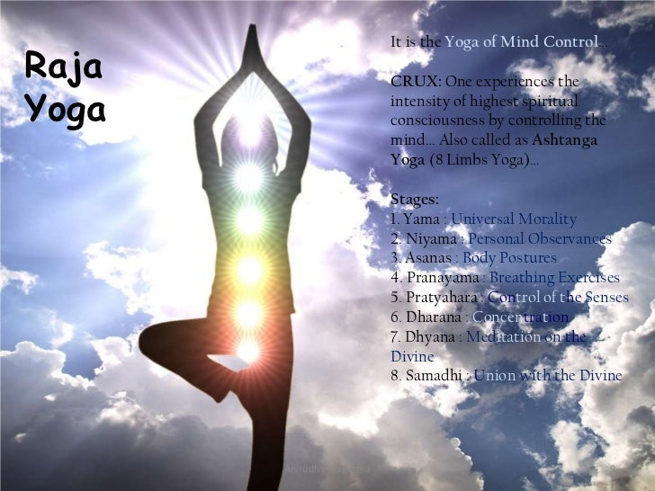 It is the Yoga of Mind Control…Raja                        CRUX: One experiences theYoga                        intensity ...