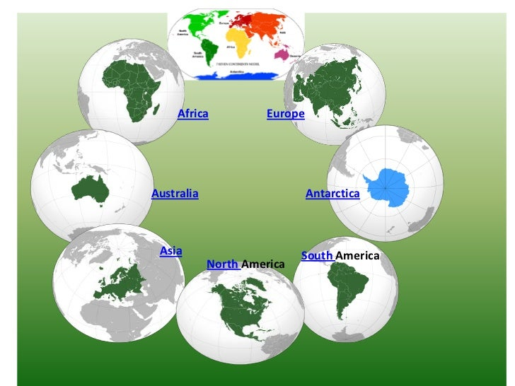 Seven Continents Of The World - Seven continents of the world