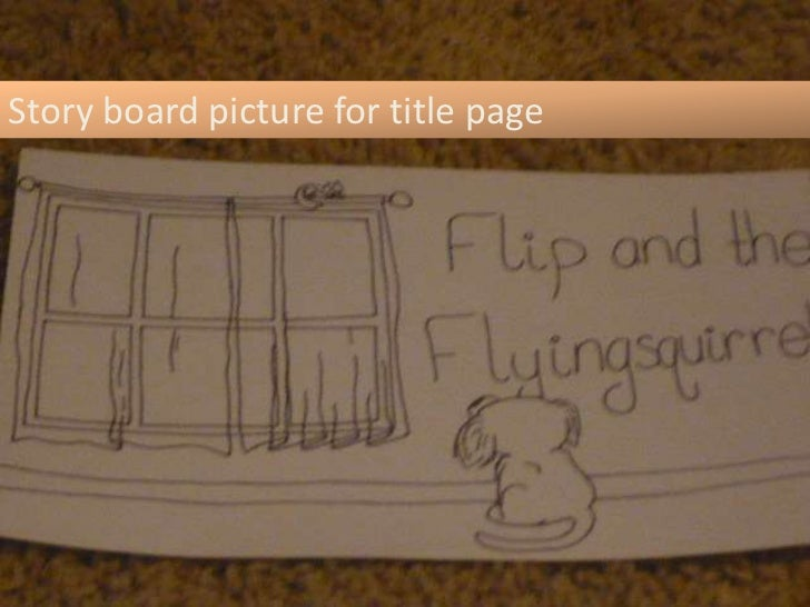 Story board picture for title page