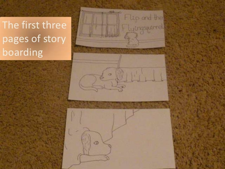 The first threepages of storyboarding