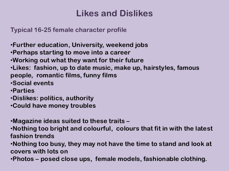 Dating profile example female