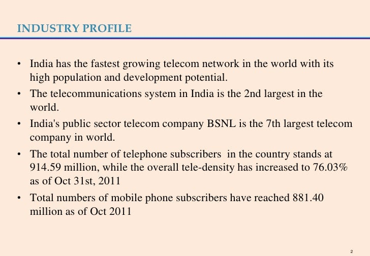industry profile of bsnl The latest tweets from bsnl (@bsnl_india): hover over the profile pic and click the following button to unfollow any account say a lot with a little.
