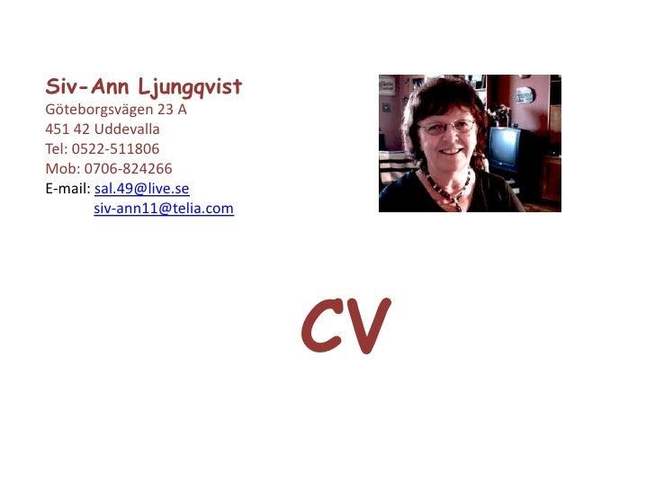 Power Point presentation av mitt CV