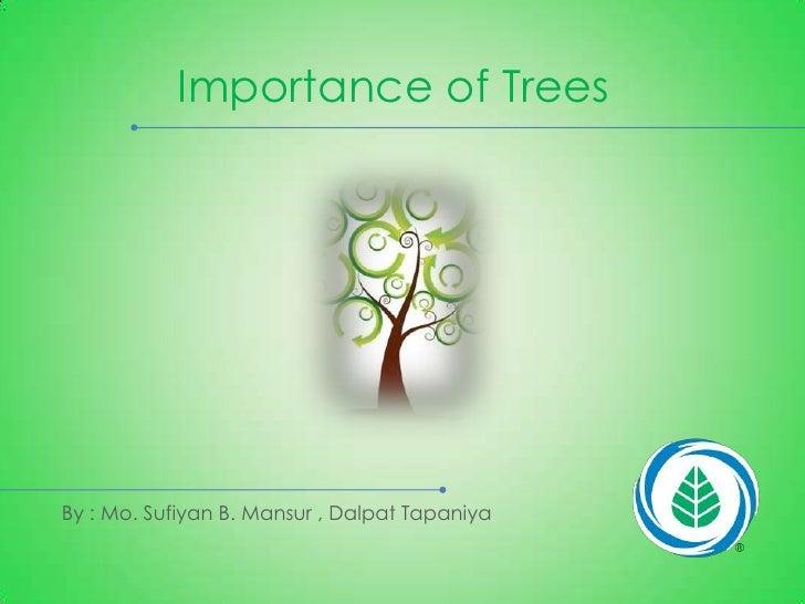 Importance of Trees   Slide 2