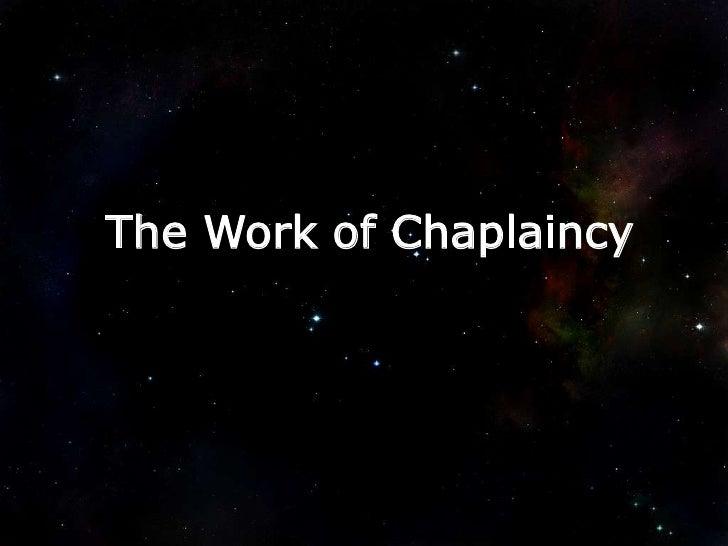 The Work of Chaplaincy