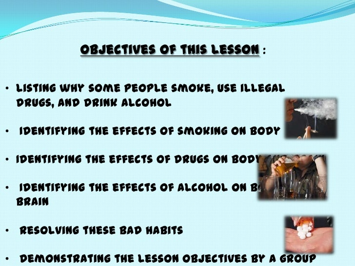Smoking alcohol and drugs essay