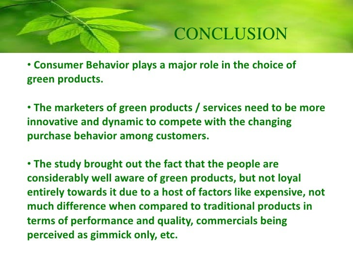 consumer attractiveness towards green products of Young consumers' purchase intentions of buying green products young consumers' purchase intentions of products with colorful and attractive.