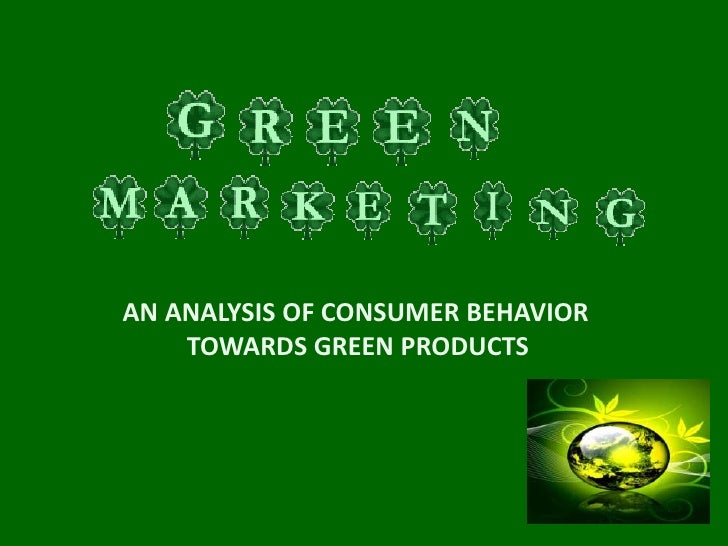 Dissertation progress report green marketing