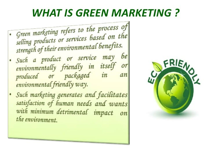 market analysis marketing to the green consumer