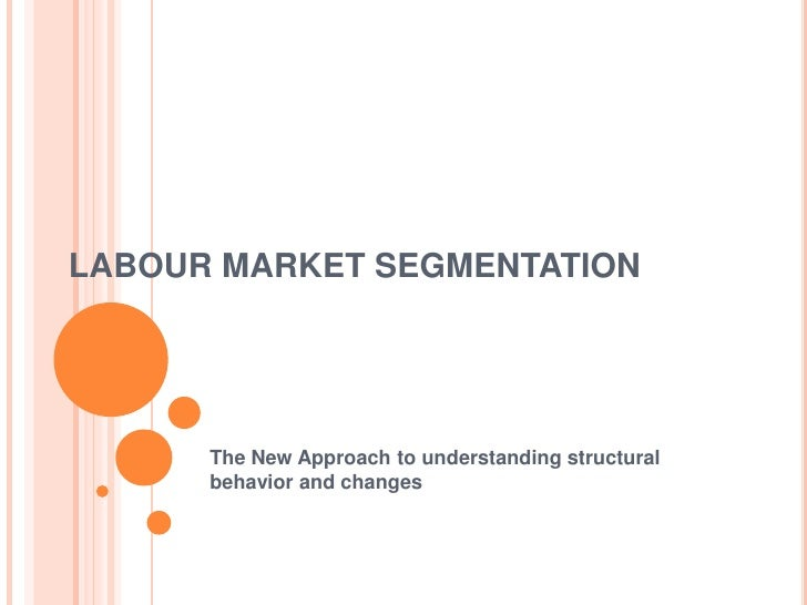 LABOUR MARKET SEGMENTATION      The New Approach to understanding structural      behavior and changes