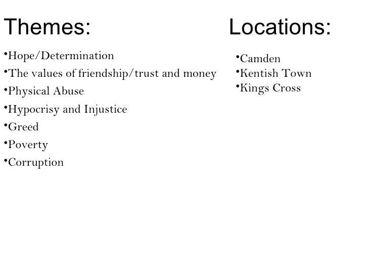 Themes:                                     Locations:•Hope/Determination                         •Camden•The values of fr...