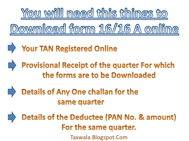 how to download form 16/16A from tin-nsdl website online