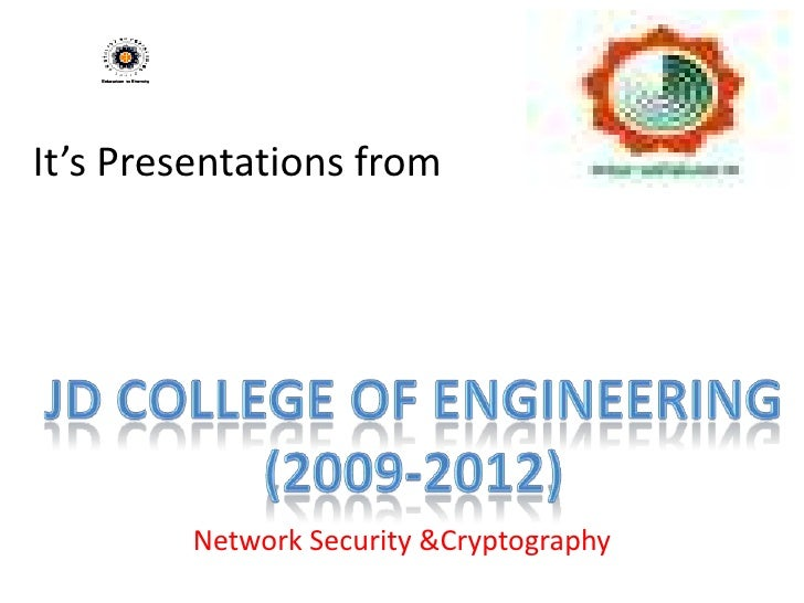 It's Presentations from         Network Security &Cryptography