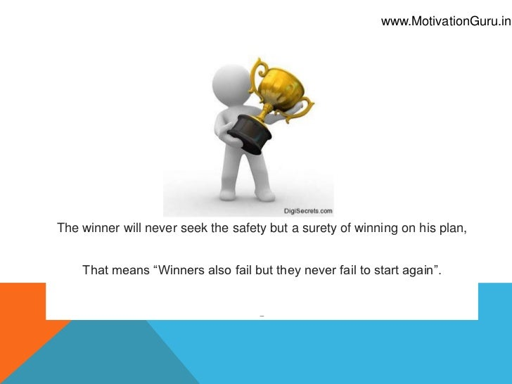 Why Winners have Plan A only Slide 2