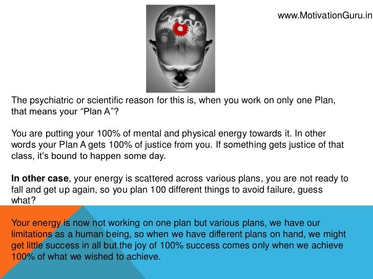 Why Winners have Plan A only Slide 3