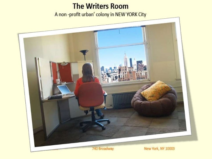 The Writers Room provides writers with affordableworkspace in New York City. There are no restrictionson literary genre:no...