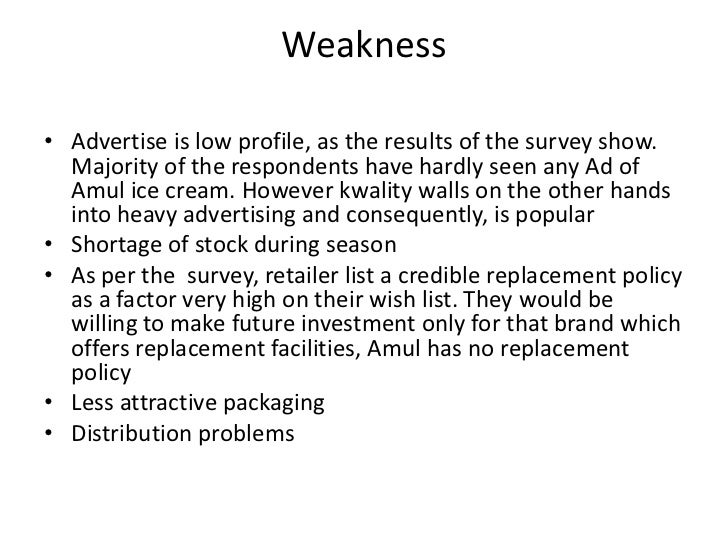 factors influencing demand of the kwality walls ice creams By kwality walls &vadilal with about 12-14% share each  cushion keywords:  amul, crème rich, magnum, premium ice cream, extrusion bars  test 6 -  factor analysis ( to find out factors affecting customers buying decision .