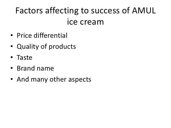 Economical factors of amul