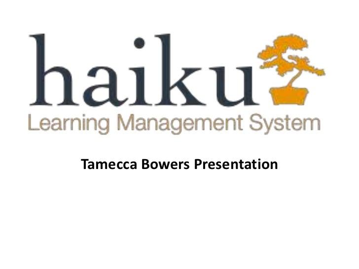 Tamecca Bowers Presentation