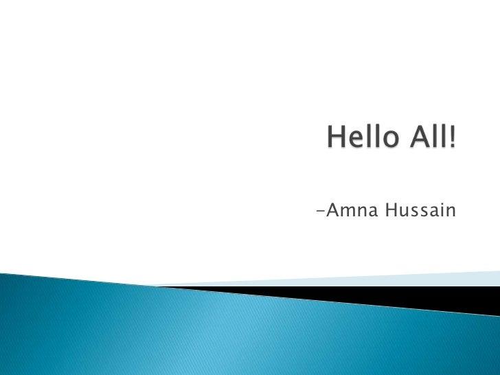 -Amna Hussain