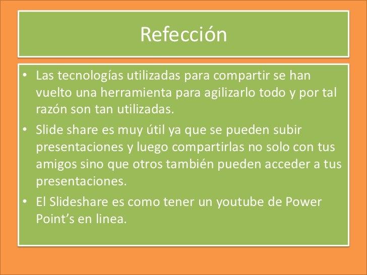 Reflecion Slideshare