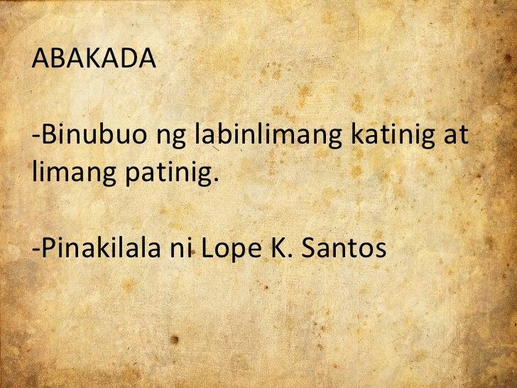 tula ni lope k santos Dalawang tula ni ka amado v hernandez, pambansang alagad ng sining   inampalan: lope k santos, julian cruz balmaceda at iñigo ed.