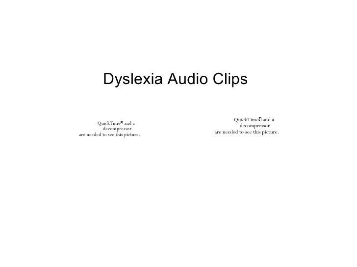 Dyslexia Audio Clips