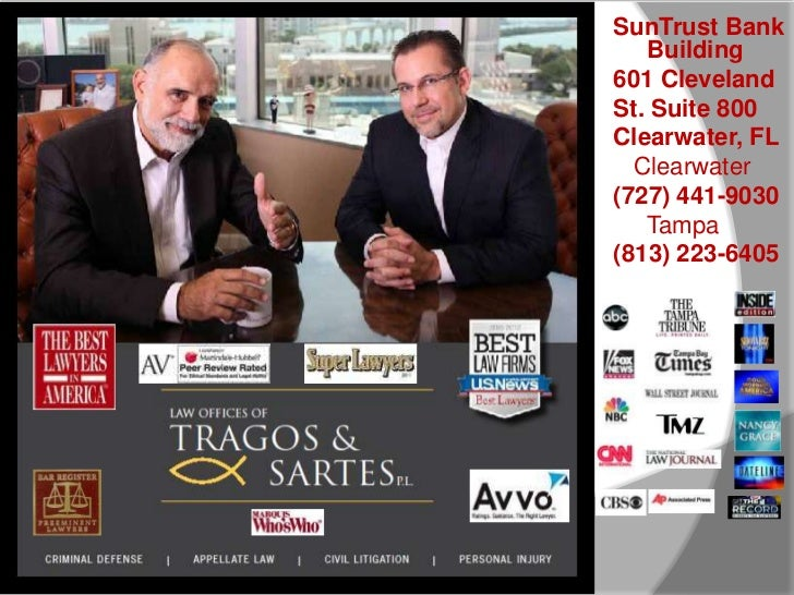 SunTrust Bank   Building601 ClevelandSt. Suite 800Clearwater, FL  Clearwater(727) 441-9030   Tampa(813) 223-6405