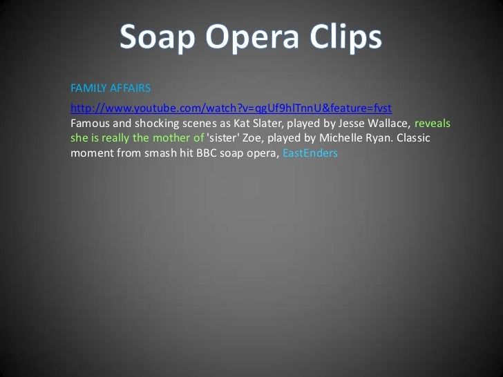 the importance of realism in british soap opera essay 'studying soap opera', an exemplary summary essay by anna mccarthy, describes the development of soap opera as a form and is followed by her second essay, 'realism and soap opera', which describes some of the key academic texts in the study of the genre.