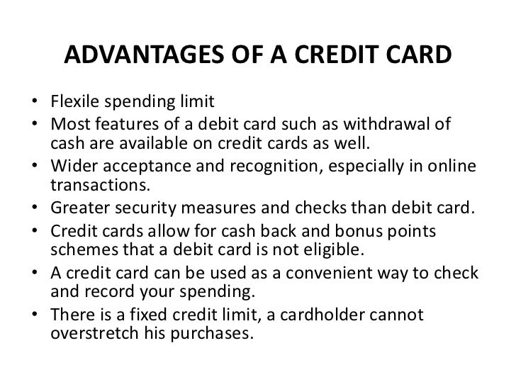 list the advantages and disadvantages of using a credit card