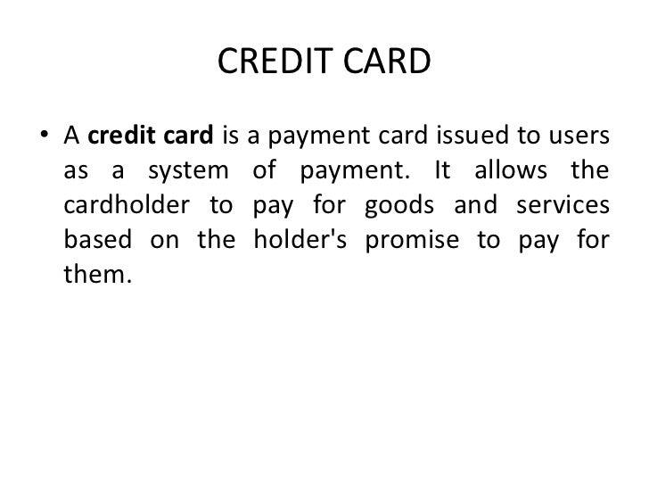 Credit Cards Slide 2