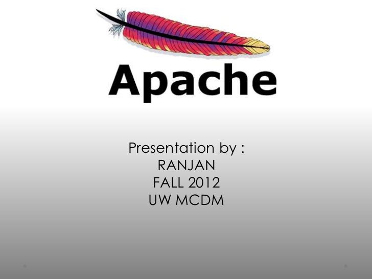 Presentation by :    RANJAN   FALL 2012   UW MCDM