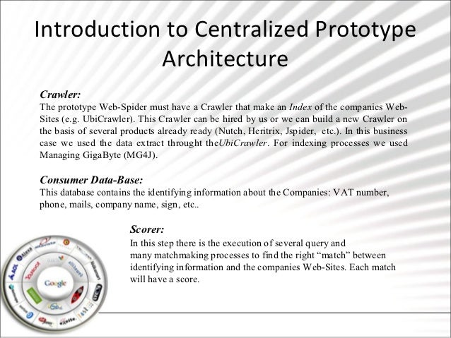 Introduction to Centralized Prototype            ArchitectureCrawler:The prototype Web-Spider must have a Crawler that mak...