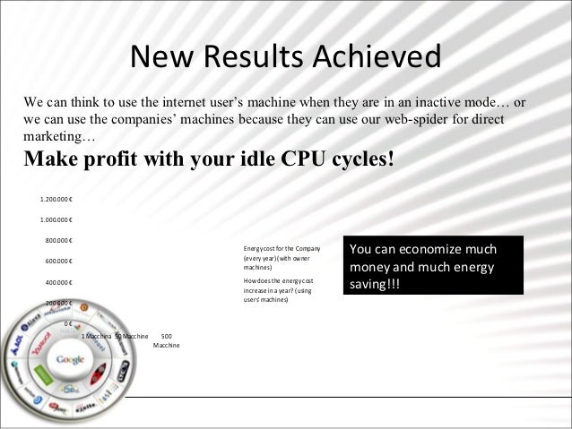 New Results AchievedWe can think to use the internet user's machine when they are in an inactive mode… orwe can use the co...
