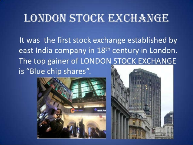 Stock exchange simple ppt
