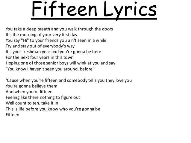 Fifteen Taylor Swift