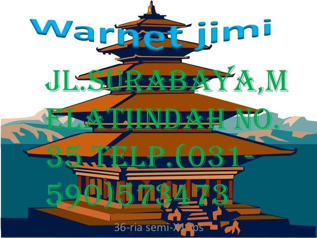 JL.surabaya,melatiindah no.35 Telp.(031-590)573473   36-ria semi-X1-ips