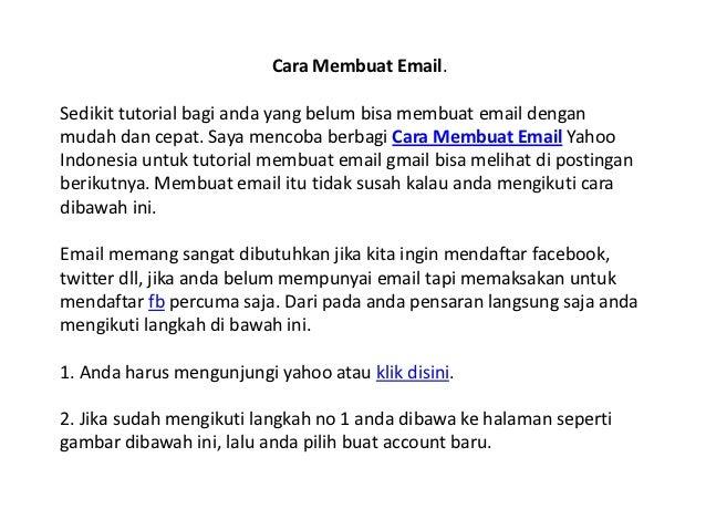 Cara Membuat Email.Sedikit tutorial bagi anda yang belum bisa membuat email denganmudah dan cepat. Saya mencoba berbagi Ca...
