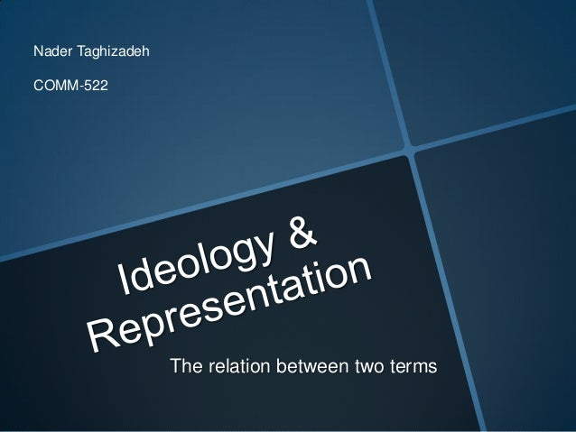 Nader TaghizadehCOMM-522                   The relation between two terms