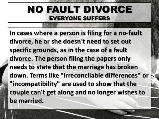 no fault divorce essay