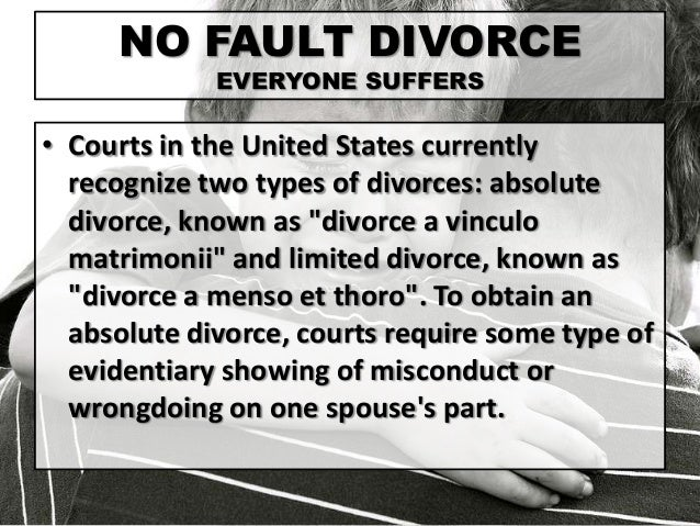 laws for a no fault divorce in maine