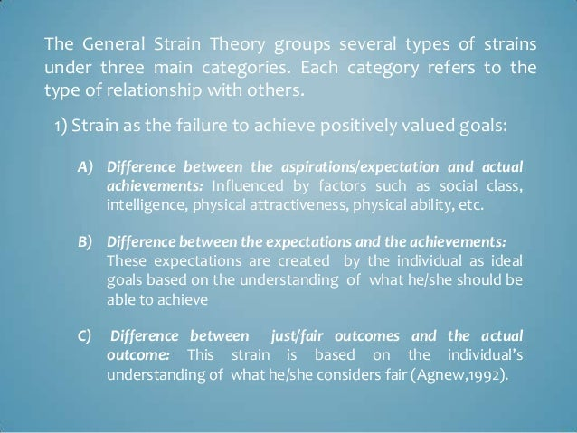 agnew s theory of strain based terrorism This paper reviews and critiques current strain-based explanations of terrorism then draws on general strain theory and the terrorism research to present a general.
