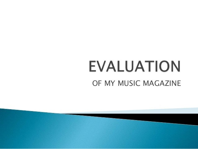 OF MY MUSIC MAGAZINE