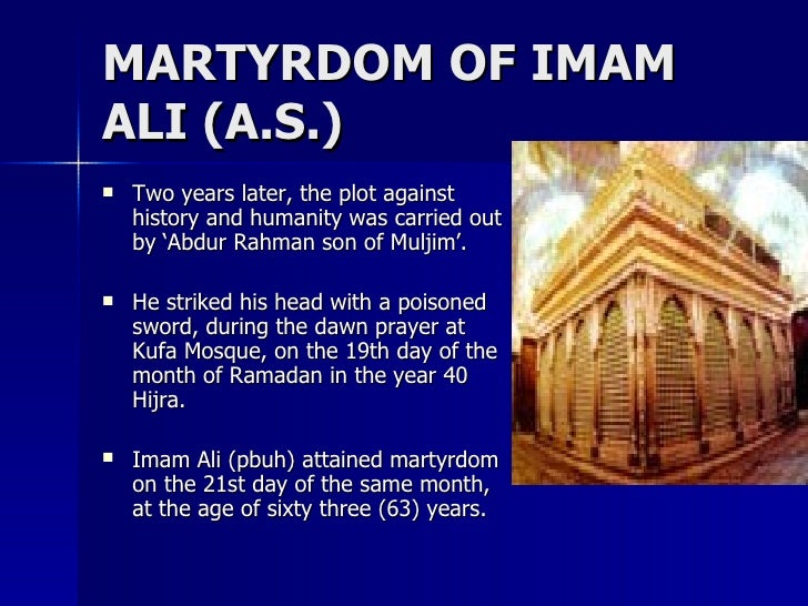 Imam Husayn and His Martyrdom