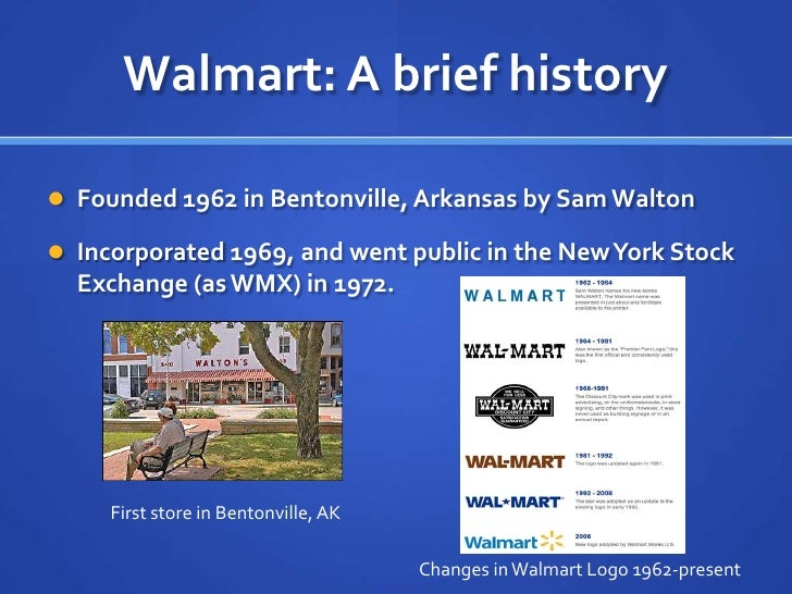Walmart project presentation for Walmart powerpoint template